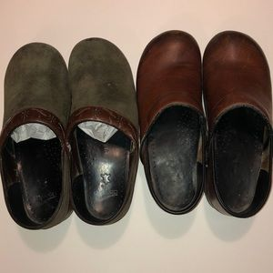TWO PAIR DANSKO Size Euro 43 leather earth tones